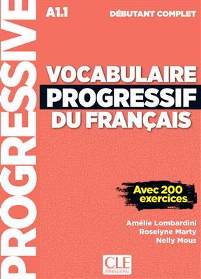 خرید کتاب فرانسه Vocabulaire progressif du français - debutant complet + CD