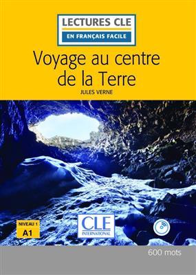 خرید کتاب فرانسه Voyage au centre de la Terre - Niveau 1/A1 + CD - 2eme edition