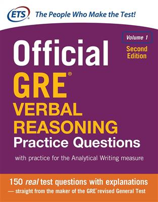 خرید کتاب انگليسی Official GRE Verbal Reasoning Practice Questions Volume 1-2nd