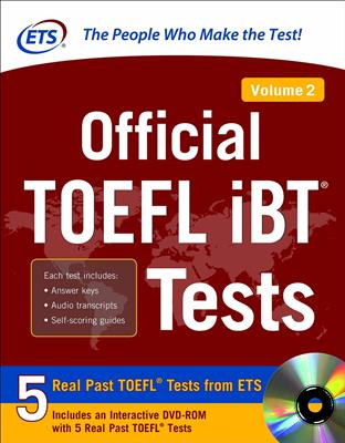 خرید کتاب انگليسی Official TOEFL iBT Tests Volume 2 (2nd)+DVD